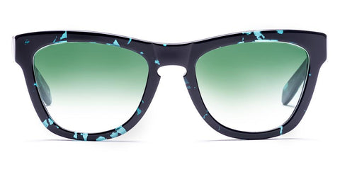 Westward Leaning - Pioneer 37 Polished Aquamarine Tortoise Acetate Sunglasses / Jade Ombre Lenses