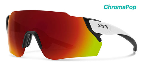 Smith - Attack Max Matte White Sunglasses / ChromaPop Sun Red Mirror Lenses