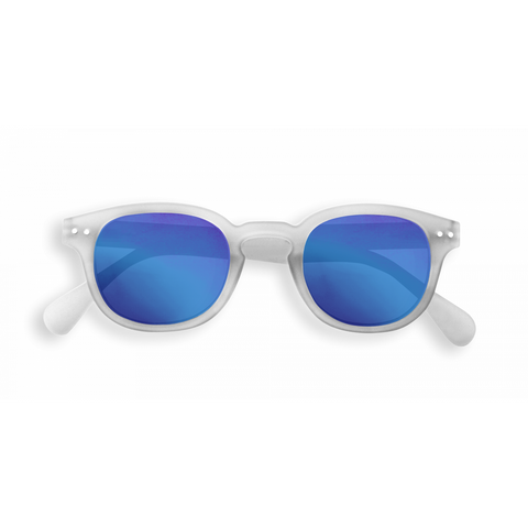 Izipizi - #C White Crystal Junior Sunglasses / Blue Mirror Lenses