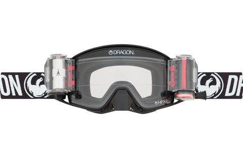 Dragon - NFX2 Coal Rapid Roll System MX Goggles / Injected Clear Lenses