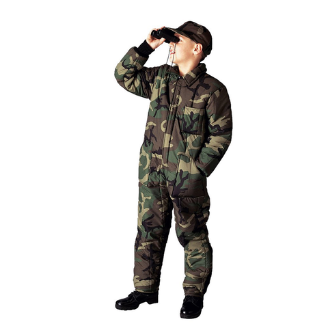 Rothco - Kids' Insulated Woodland Camo Coveralls