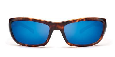 Kaenon - Cowell Matte Tortoise Sunglasses / Grey 12 Pacific Blue Mirror Lenses