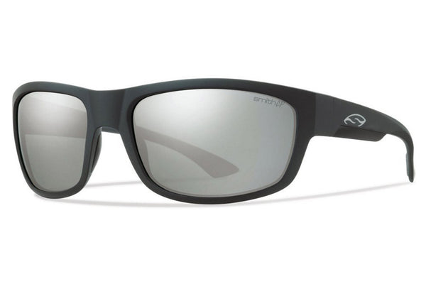 Smith Dover Matte Black Sunglasses, ChromaPop+ Polarized Platinum Lenses