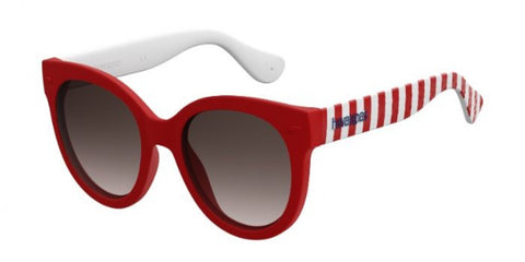 Havaianas - Noronha S Dark Red Striped Sunglasses / Brown Gradient Lenses