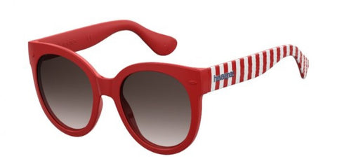 Havaianas - Noronha M Dark Red Striped Sunglasses / Brown Gradient Lenses