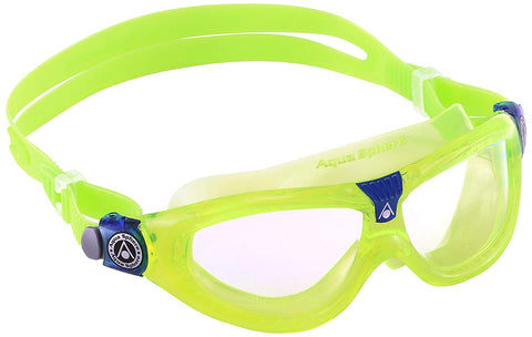 Aqua Sphere - Seal Kid 2 Lime Blue Swim Goggles / Clear Lenses