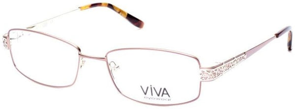 Viva - VV4513 Shiny Dark Brown Eyeglasses / Demo Lenses