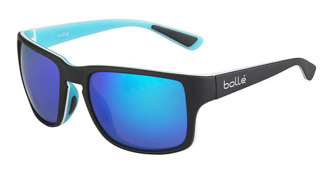 Bolle - Slate Matte Black Blue Sunglasses / Polarized Offshore Blue AR Lenses