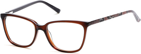 Rampage - RA0200 Dark Brown Eyeglasses / Demo Lenses