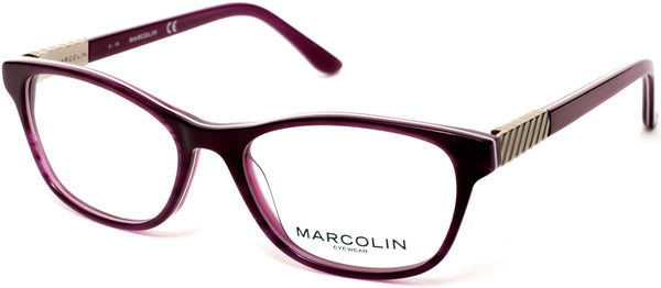 Marcolin - MA5016 50mm Violet Eyeglasses / Demo Lenses