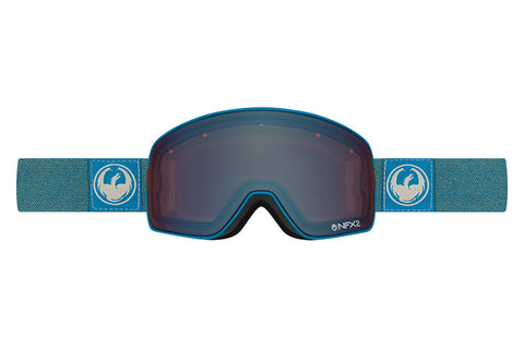 Dragon - NFX2 Hone Blue / Lumalens Flash Blue + Lumalens Flash Green Goggles