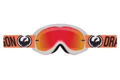 Dragon - MDX Flash Orange / Red Ion + Clear Moto Goggles
