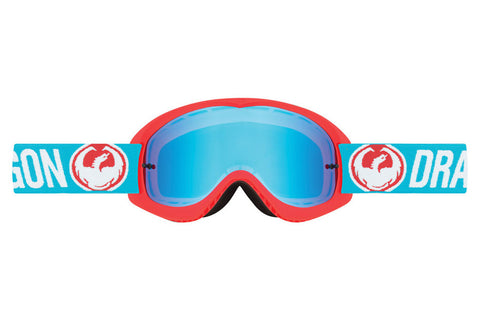 Dragon - MDX Flash Blue / Blue Steel + Clear Moto Goggles
