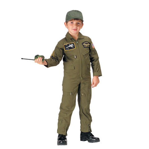 Rothco - Kids' Flight Patch Olive Drab Coveralls