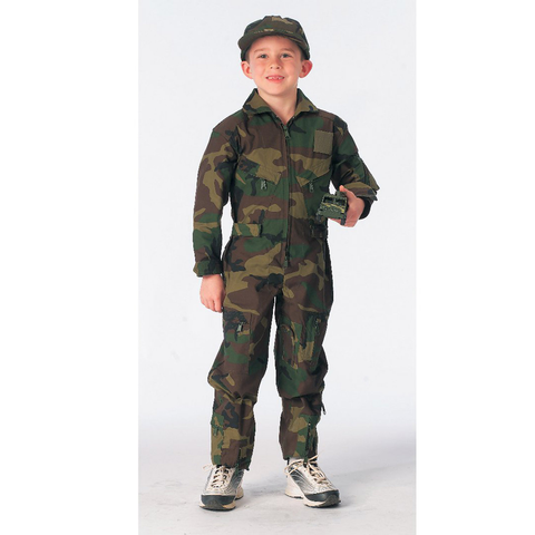 Rothco - Kids' Air Force Type Woodland Camo Flightsuits