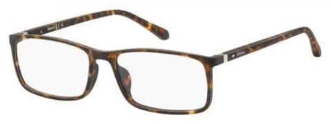 Fossil - Fos 7044 Brown Havana Eyeglasses / Demo Lenses
