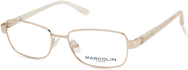 Marcolin - MA5018 53mm Gold Eyeglasses / Demo Lenses