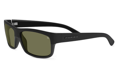 Serengeti - Martino Shiny Black Sunglasses, Polarized 555nm Lenses