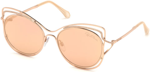 Roberto Cavalli - RC1090 Monteriggioni Gold Sunglasses / Brown Mirror Lenses