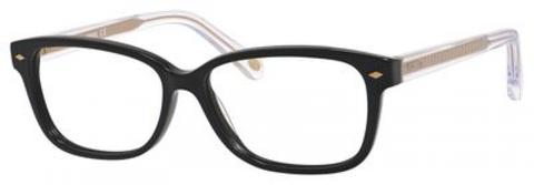 Fossil - Fos 6063 Black Crystal Eyeglasses / Demo Lenses