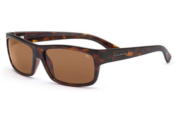 Serengeti - Martino Shiny Dark Tortoise Sunglasses, Polarized Drivers Lenses