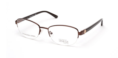 Catherine Deneuve - CD0417 Matte Dark Brown Eyeglasses / Demo Lenses