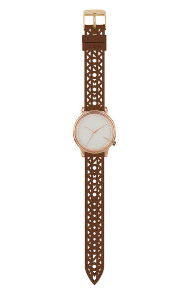 Komono - Estelle Cutout Cognac Watch