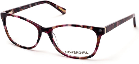 Cover Girl - CG0545 Bordeaux Eyeglasses / Demo Lenses
