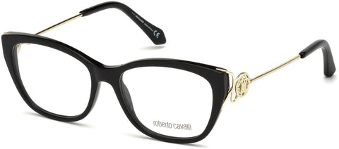 Roberto Cavalli - RC5051 Focagnano Shiny Black Eyeglasses / Demo Lenses