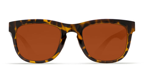Costa - Copra  Retro Tortoise + Black temples Sunglasses / Copper Polarized Plastic Lenses