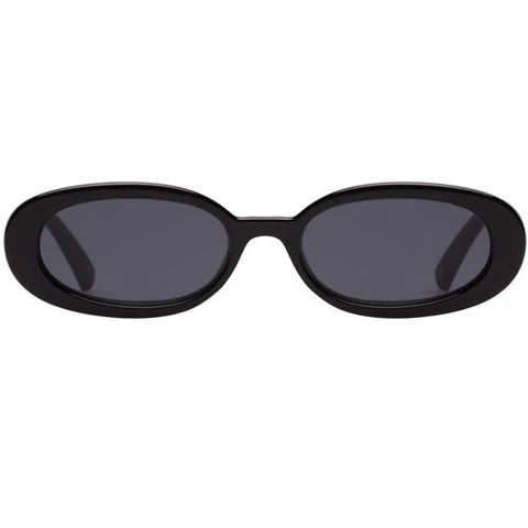 Le Specs - Outta Love Black Sunglasses / Smoke  Lenses
