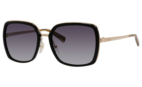 Max Mara - Classy III Rose Gold Black Sunglasses / Gray Gradient Lenses