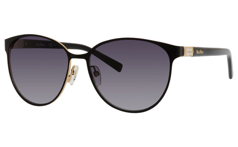 Max Mara - Diamond V Matte Black Sunglasses / Gray Gradient Lenses