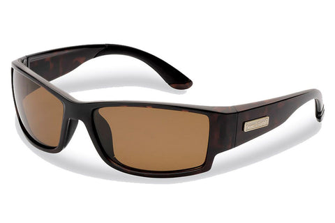 Flying Fisherman - Razor 7717 Dark Tortoise Sunglasses, Amber Lenses