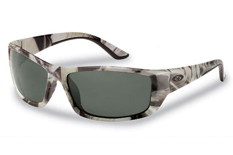 Flying Fisherman - Buchanan 7719 Matte Camo Sunglasses, Smoke Lenses