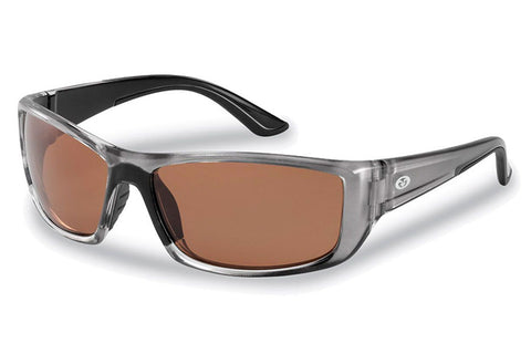 Flying Fisherman - Buchanan 7719 Crystal Gunmental Sunglasses, Copper Lenses