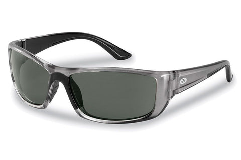 Flying Fisherman - Buchanan 7719 Crystal Gunmental Sunglasses, Smoke Lenses