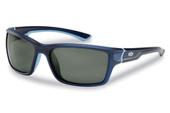 Flying Fisherman - Cove 7721 Matte Crystal Navy Sunglasses, Smoke Lenses