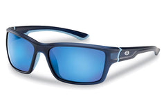 Flying Fisherman - Cove 7721 Matte Crystal Navy Sunglasses, Smoke Blue Mirror Lenses