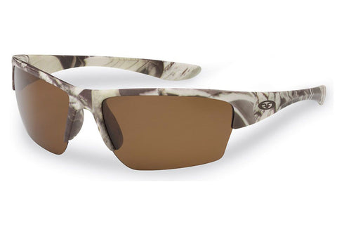 Flying Fisherman - Glades 7724 Matte Camo Sunglasses, Amber Lenses