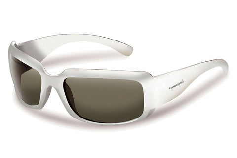 Flying Fisherman - La Palma 7744 White Sunglasses, Smoke Lenses