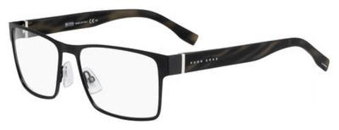 BOSS by Hugo Boss - 0730 N Black White Horn Eyeglasses / Demo Lenses