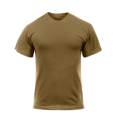 Rothco - 100% Cotton Solid Color Brown T-shirt