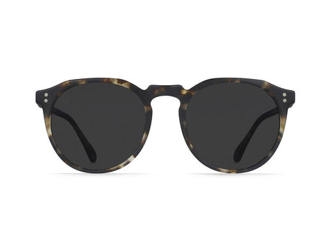 Raen - Remmy 49mm Matte Brindle Tortoise Sunglasses / Smoke Polarized Lenses