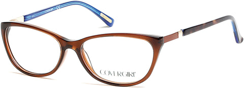 Cover Girl - CG0534 Shiny Light Brown Eyeglasses / Demo Lenses