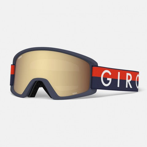 Giro - Semi Midnight Red Throwback Snow Goggles / Amber Gold + Yellow Lenses
