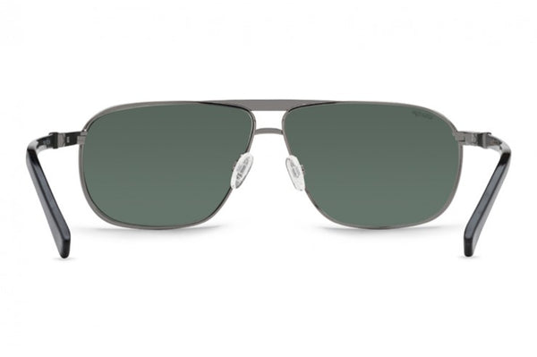 VonZipper - Skitch Charcoal Gloss Sunglasses / Wild Vintage Grey Polarized Lenses