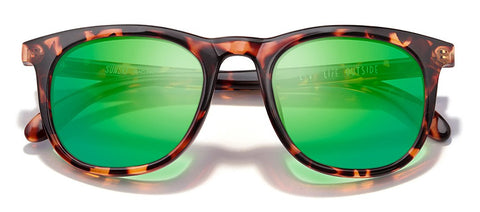 Sunski Seacliffs Tortoise Sunglasses / Emerald Polarized Lenses