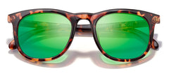 Sunski - Seacliffs Tortoise Sunglasses / Emerald Polarized Lenses