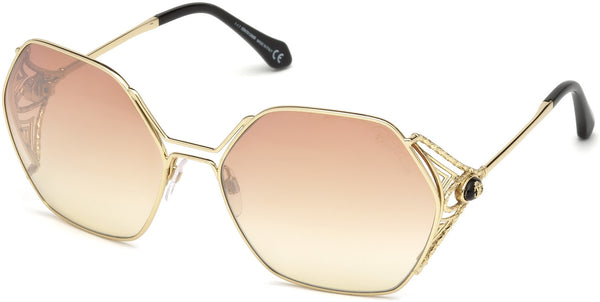 Roberto Cavalli - RC1056 Fosdinovo Gold Sunglasses / Bordeaux Mirror Lenses